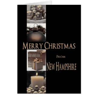 New Hampshire Christmas Card with ornaments
