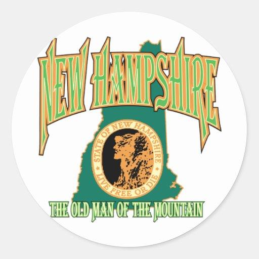 New Hampshire Classic Round Sticker
