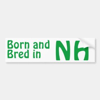 New Hampshire crió al pegatina (de parachoques) Pegatina Para Auto