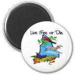 New Hampshire Deer Lilac Finch 2 Inch Round Magnet