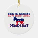 New Hampshire Democrat Christmas Tree Ornament
