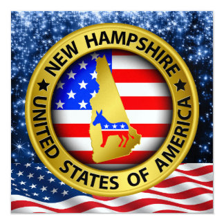 New Hampshire Democrat Patriotic Invitation - srf