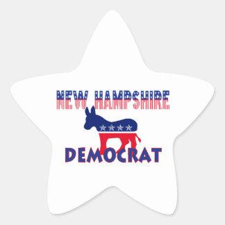 New Hampshire Democrat Star Sticker