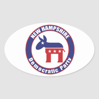 New Hampshire Democratic Party Oval Stickers