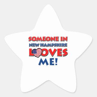 NEW HAMPSHIRE designs Star Sticker