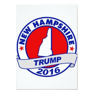 """New Hampshire Donald Trump Donald Trump 2016 2016. Invitación 5"""" X 7"""""""