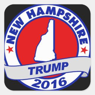 New Hampshire Donald Trump Donald Trump 2016 2016. Pegatina Cuadrada