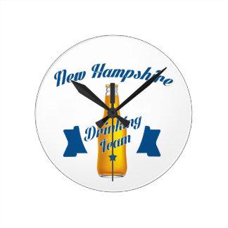 New Hampshire Drinking team Round Clock