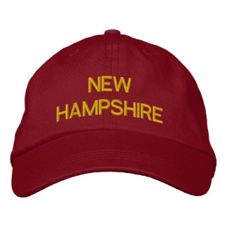 NEW HAMPSHIRE EMBROIDERED BASEBALL CAP