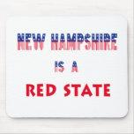 New Hampshire es un estado rojo Tapetes De Ratón
