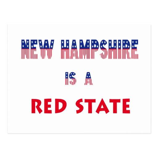 New Hampshire es un estado rojo Tarjetas Postales