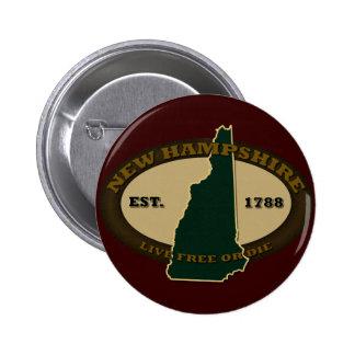 New Hampshire Est 1788 Pin Redondo 5 Cm