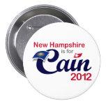 ¡New Hampshire está para Caín! Botón - Caín 2012 Pin