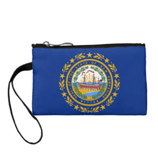 New Hampshire Flag Coin Wallets