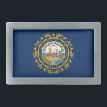 """New Hampshire flag Belt Buckle<br><div class=""""desc"""">Flag of the State of New Hampshire</div>"""