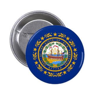 New Hampshire Flag Pinback Button
