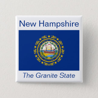 New Hampshire Flag Button