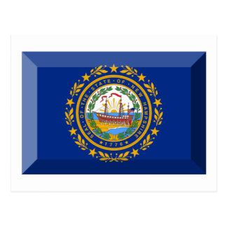 New Hampshire Flag Gem Postcard