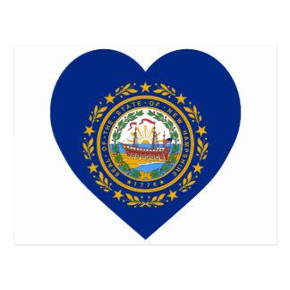 New Hampshire Flag Heart Postcard