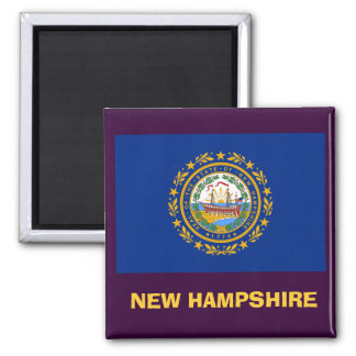 New Hampshire* Flag Magnet