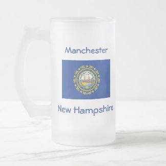 New Hampshire Flag Map City Mug