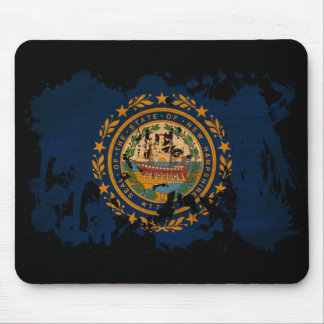 New Hampshire Flag Mouse Pad