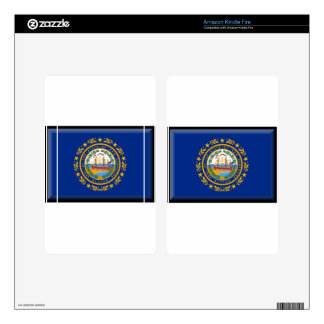 New Hampshire Flag Skin For Kindle Fire