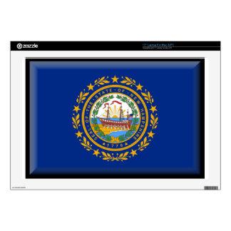 "New Hampshire Flag Skins For 17"" Laptops"