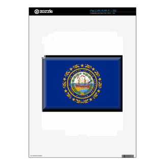 New Hampshire Flag Decals For The iPad 2