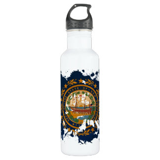 New Hampshire Flag Stainless Steel Water Bottle