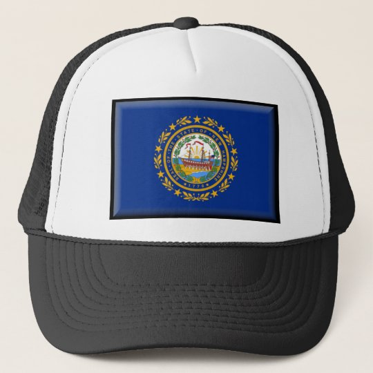 New Hampshire Flag Trucker Hat