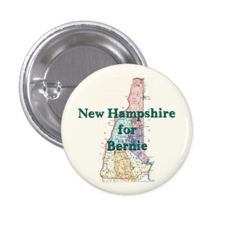 New Hampshire for Bernie 2016 1 Inch Round Button