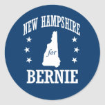 NEW HAMPSHIRE FOR BERNIE SANDERS CLASSIC ROUND STICKER