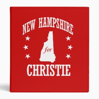 NEW HAMPSHIRE FOR CHRISTIE BINDER