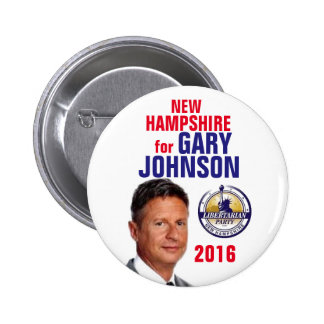 New Hampshire for Gary Johnson Pinback Button