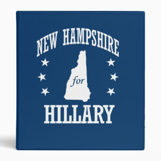 NEW HAMPSHIRE FOR HILLARY 3 RING BINDER