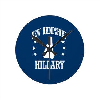 NEW HAMPSHIRE FOR HILLARY ROUND CLOCK