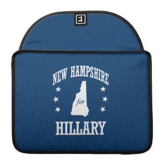 NEW HAMPSHIRE FOR HILLARY SLEEVE FOR MacBooks
