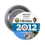 NEW HAMPSHIRE FOR OBAMA 2012 political pinback but Pin