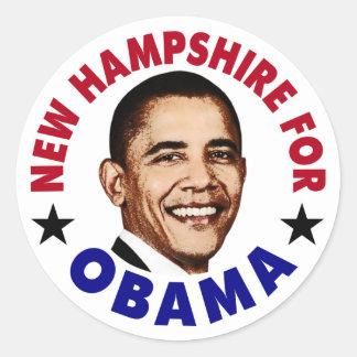 New Hampshire For Obama Classic Round Sticker