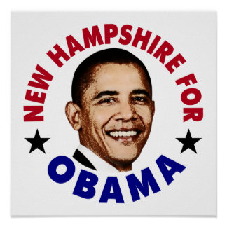 New Hampshire For Obama Poster