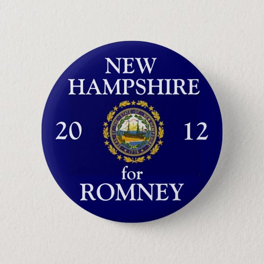 New Hampshire for Romney 2012 Button