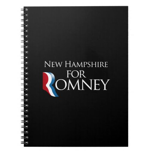 New Hampshire for Romney -.png Spiral Notebooks