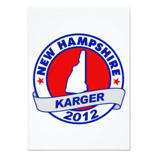 New Hampshire Fred Karger 5x7 Paper Invitation Card