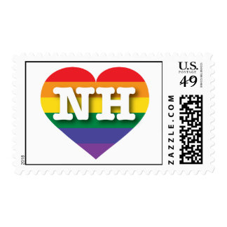 New Hampshire Gay Pride Rainbow Heart - Big Love Postage