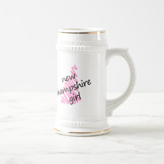 New Hampshire Girl with Scribbled New Hampshire Ma Beer Stein