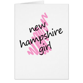 New Hampshire Girl with Scribbled New Hampshire Ma Card