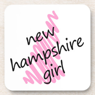 New Hampshire Girl with Scribbled New Hampshire Ma Coaster