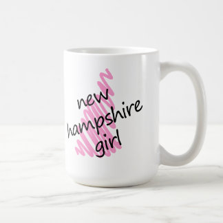 New Hampshire Girl with Scribbled New Hampshire Ma Coffee Mug