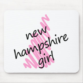 New Hampshire Girl with Scribbled New Hampshire Ma Mouse Pad